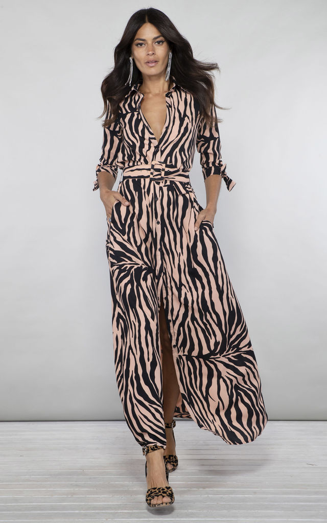 Dove Dress In Bamboo | Dancing Leopard | SilkFred